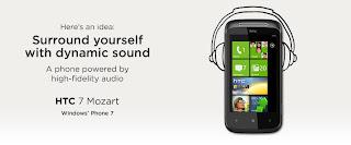 HTC Mozart - HTC 7 Mozart Windows Phone in India