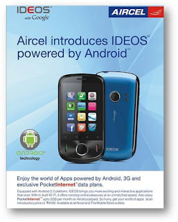 Aircel Launches Huawei IDEOS in India with Android 2.2