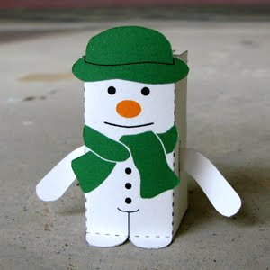 Raymond Briggs The Snowman Free Paper Toy Papermodeler