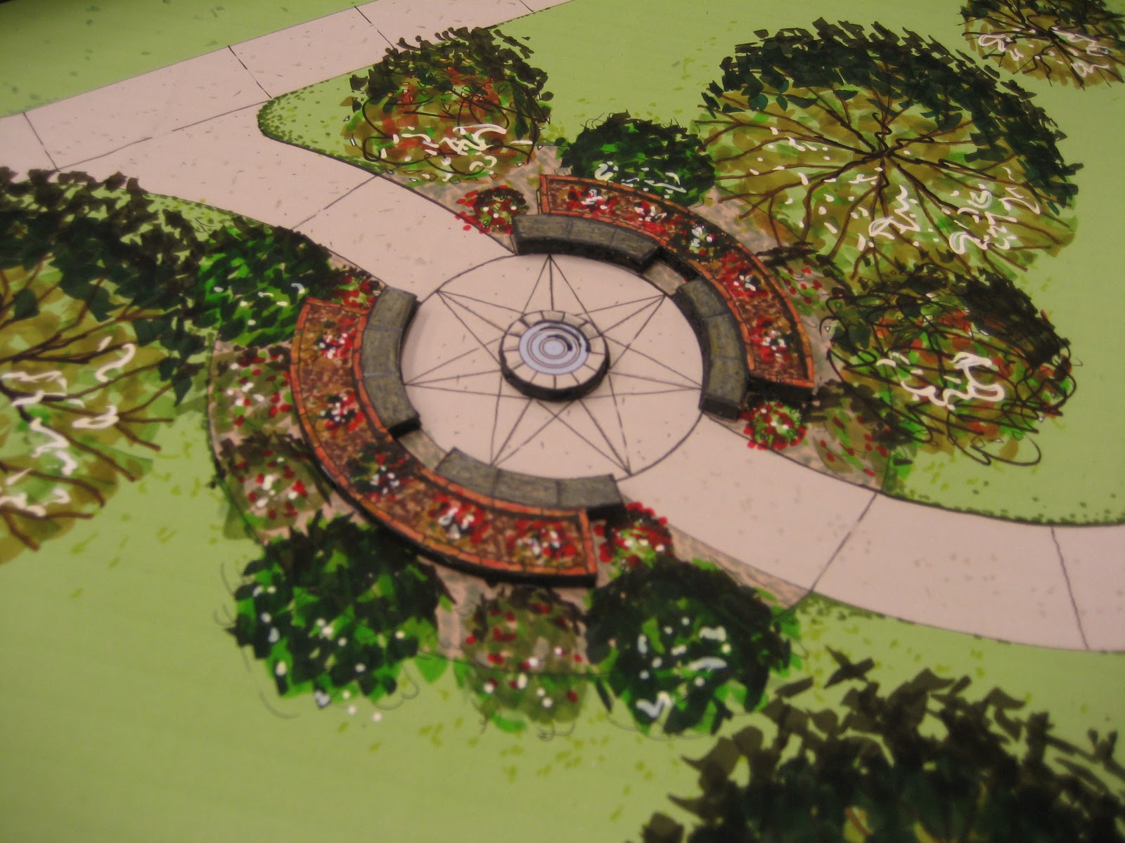To give you an idea the model here was done by a team of for Garden design ideas for schools