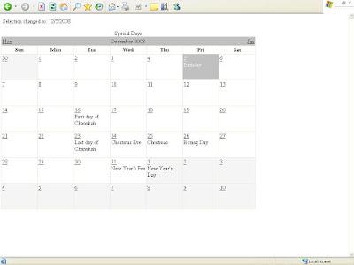 how to create a schedule using asp net calendar control