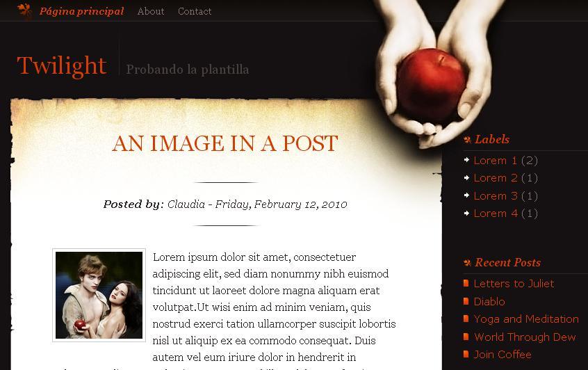 Blogger, Wordpress, Diseño, Trucos en HB: Plantilla para blogger ...