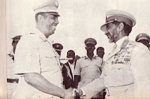 Honourable Somali President Mohamed Siad Barre  and His Imperial Majesty Emperor Haile Selassie