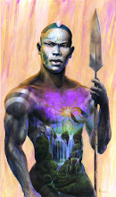"""Echoes of Eden"" Art Piece<br>by Michael Anthony Brown<br>A Nubian Knight"