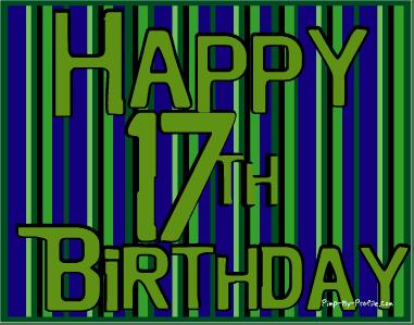 Birthday Cards: 17th Birthday Cards, Seventeenth Birthd