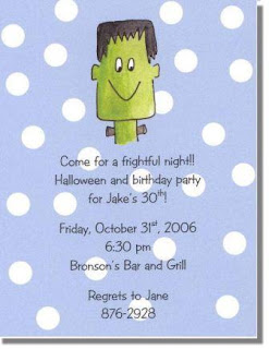 Scary Halloween Party Invitation Cards