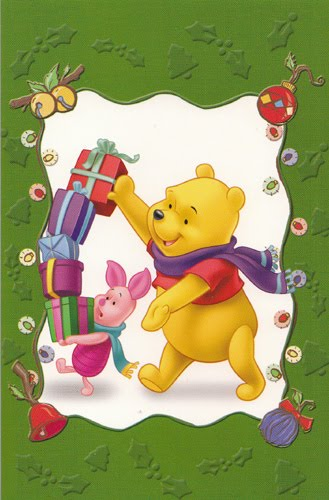 pooh and piglet christmas gift card - Pooh Christmas