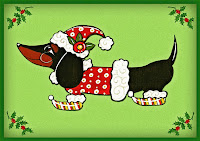 Animated Dachshund Christmas Greetings