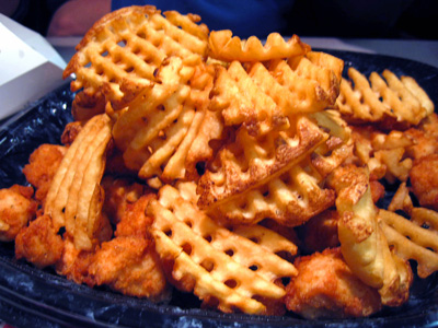 how to cut waffle fries by hand