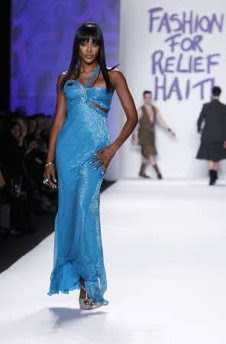 Naomi Campbell catwalks for charity show