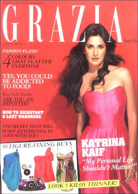 Katrina Kaif on cover of Grazia