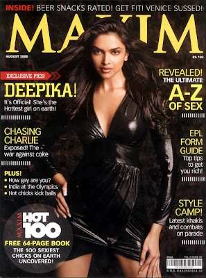 Deepika Padukone on cover of Maxim
