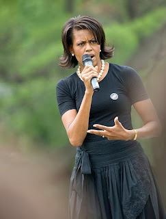 Michelle Obama does not wear fur