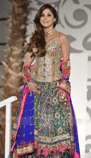 Urmila Matondkar walks the ramp in bridal attire