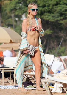 Paris Hilton enjoying Hawaii Beach in Sexy Bikini
