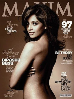 Bipasha Basu on cover of Maxim 2011 January issue