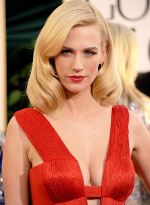 January Jones at Golden Globe Awards