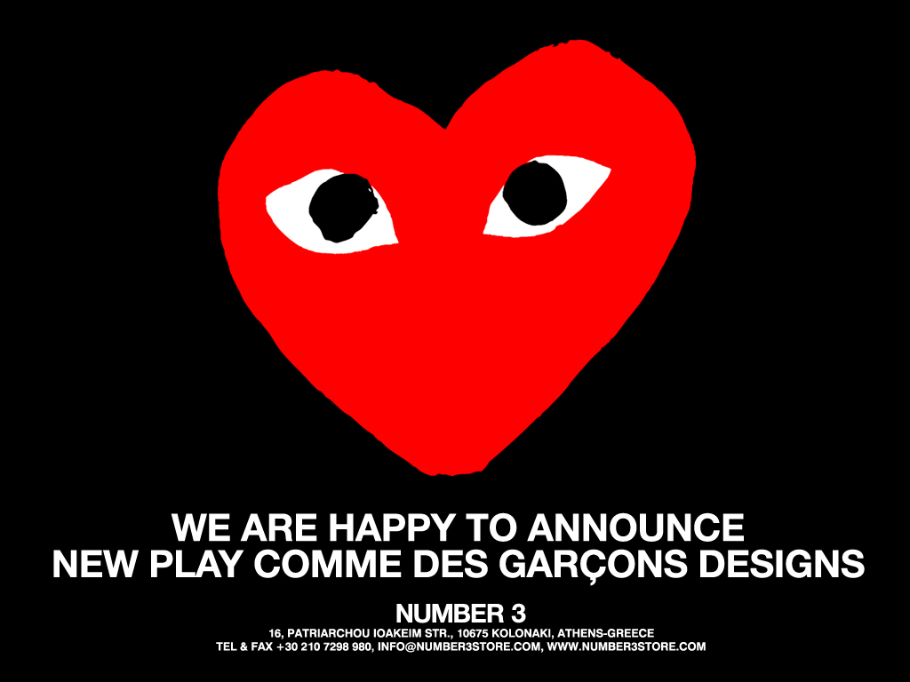 New PLAY COMME Des GARCONS Designs And For The First Time All In Black