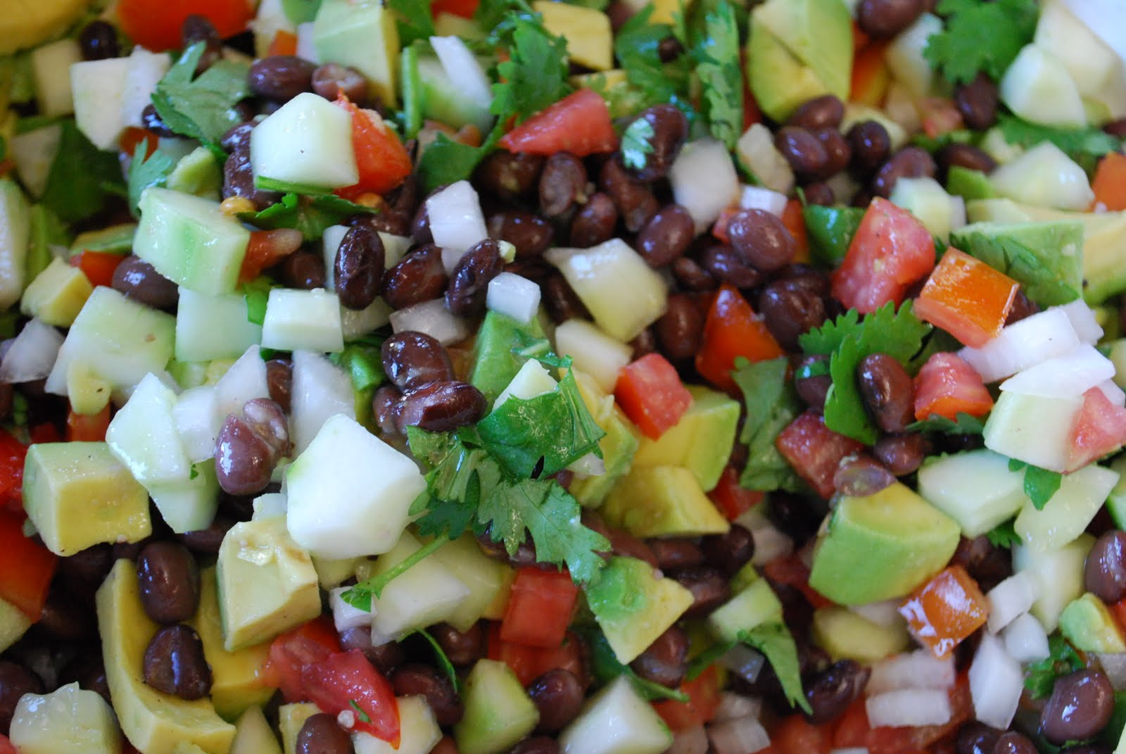 "Point-less"" Meals: Black Bean , Cucumber, Avocado Salad"
