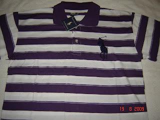 Camisa Ralph Masculina Roxa e Branca - Tam M 8129028e0754c