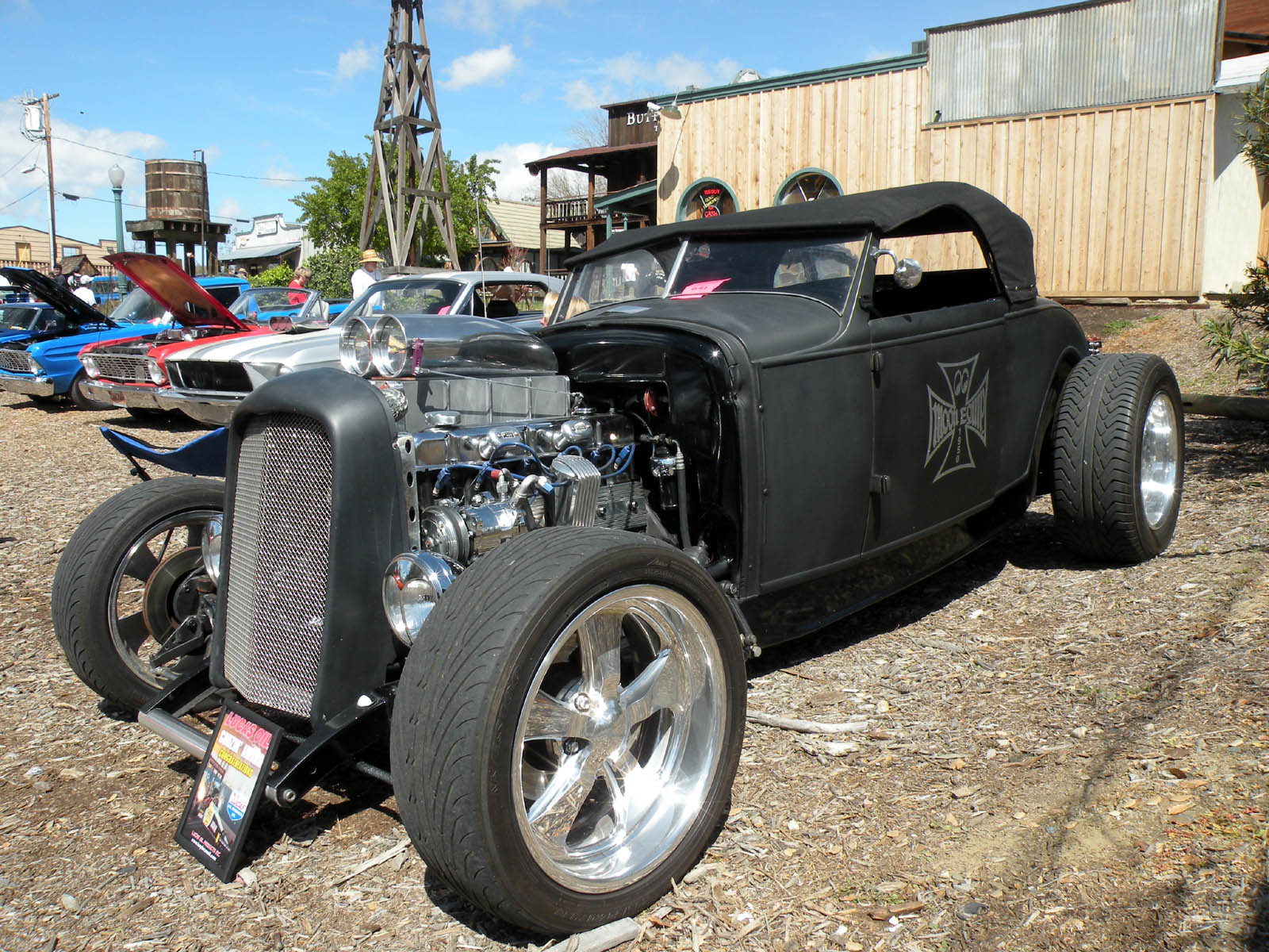 Just A Car Guy: Ever seen a ford slant six in a hot rod?
