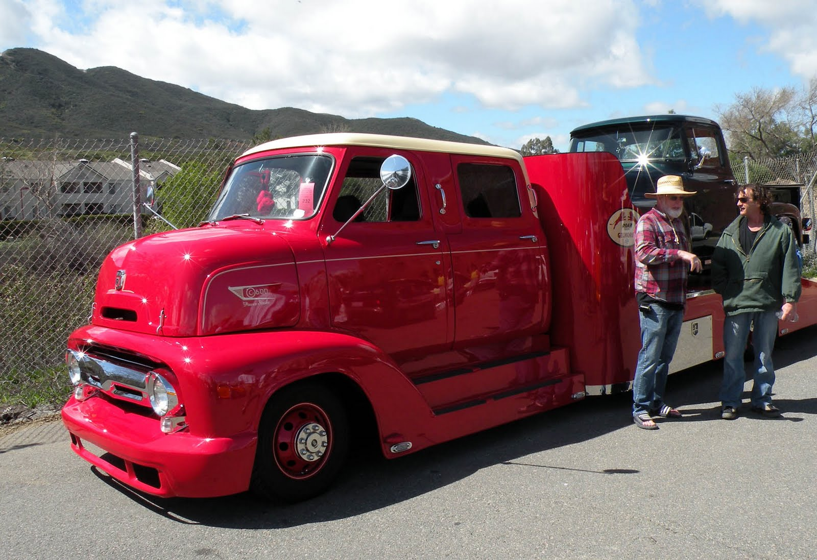 King cab 1950's COE Ford hauler from the Temecula Rod Run