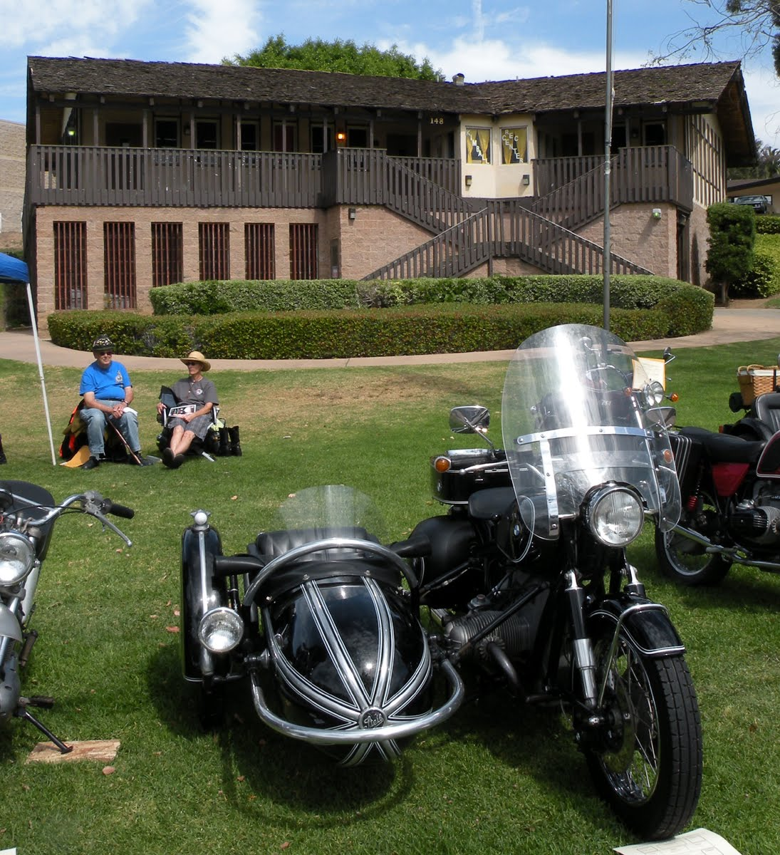 Steib Model 501 Sidecar (about 1950) And BMW R90 / 6 Motorcycle