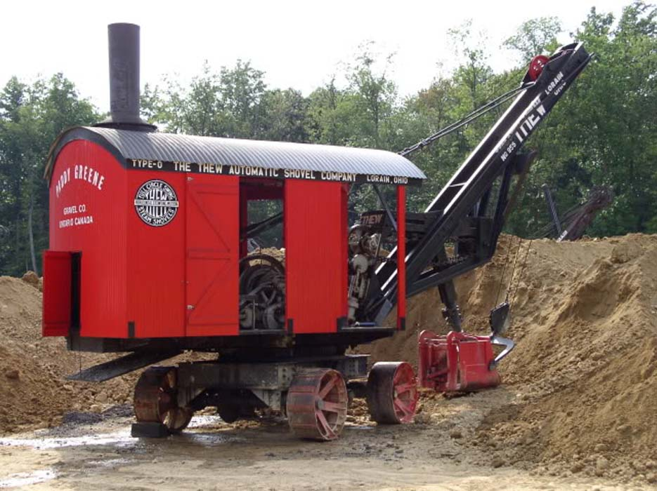 Just A Car Guy: The Thew model O steam shovel from about ...