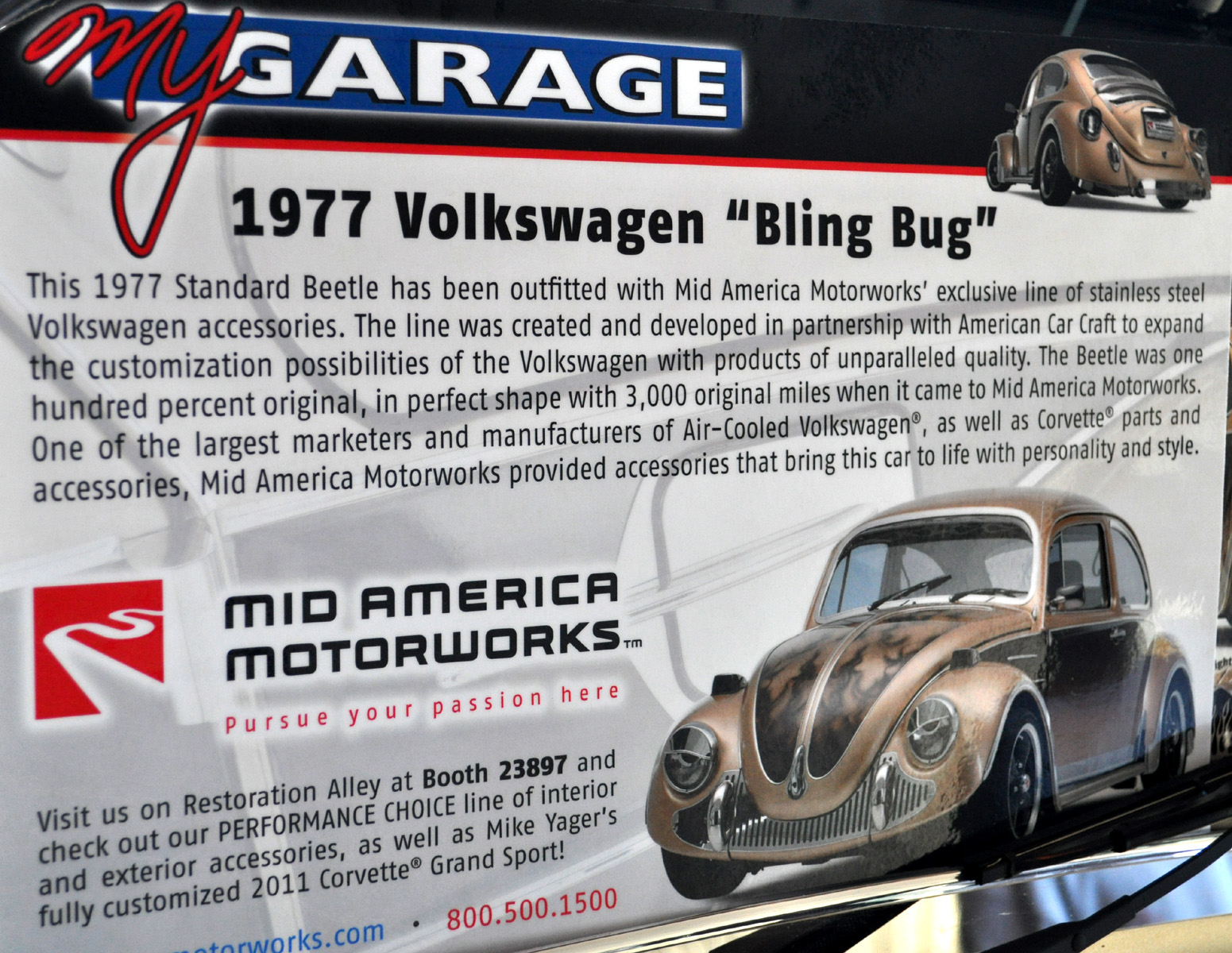 Mid America Motorworks >> Just A Car Guy Bling Bug The Mid America Motorworks Custom Vw