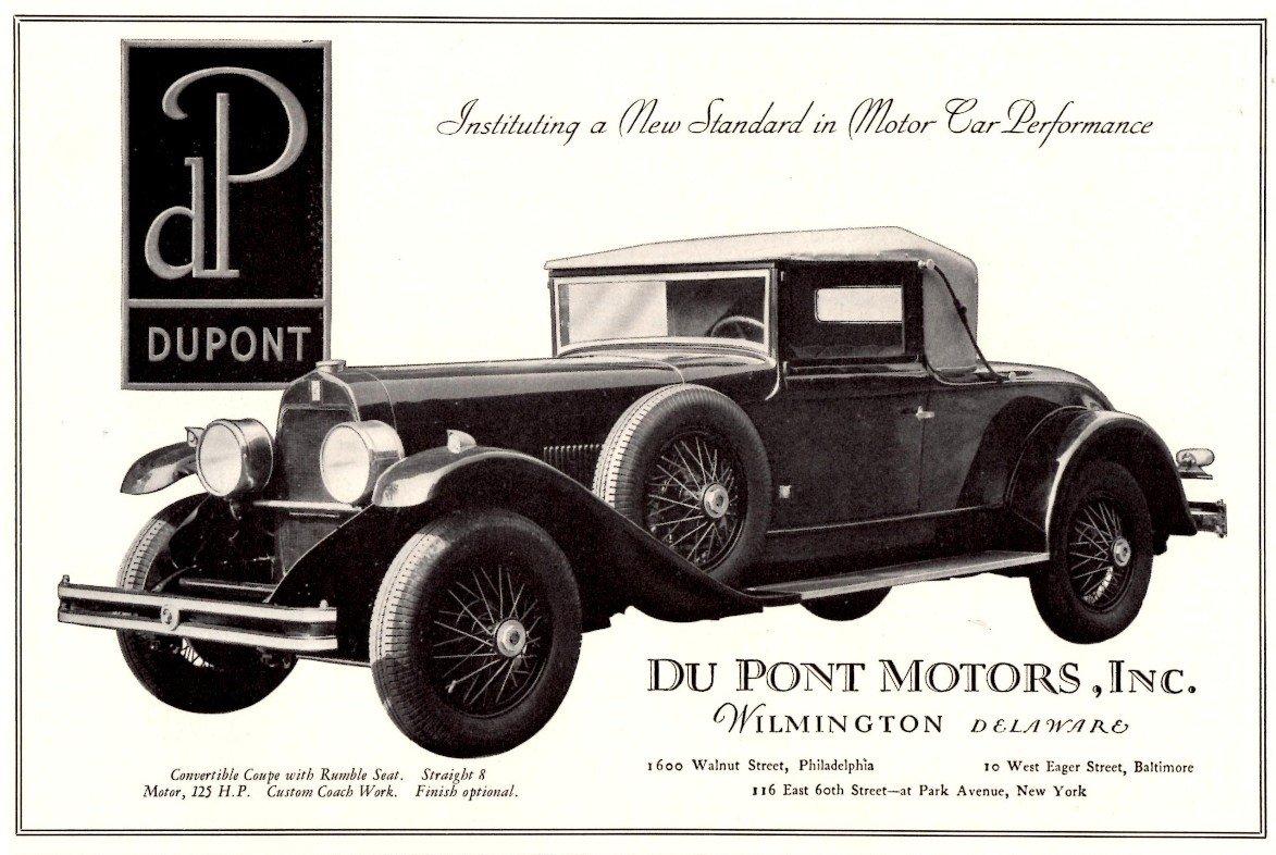 1928 through 1931 DuPont car