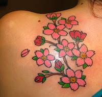 tattoo de flor de cereja