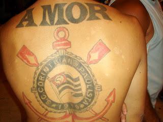 tatuagem corinthians amor