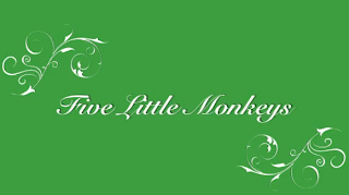 Youtube title screen which reads Five Little Monkeys