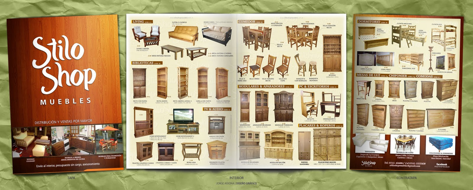Jorge arjona dise o catalogo stilo shop muebles 2010 2011 for Muebles por catalogo