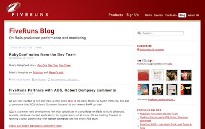 Fiveruns, Excellent Blog Designs