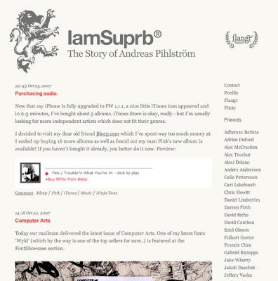 Andreas Pihlström, Excellent Blog Designs