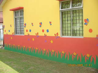 Wall mural home decor tadika play room mural for Contoh lukisan mural tadika