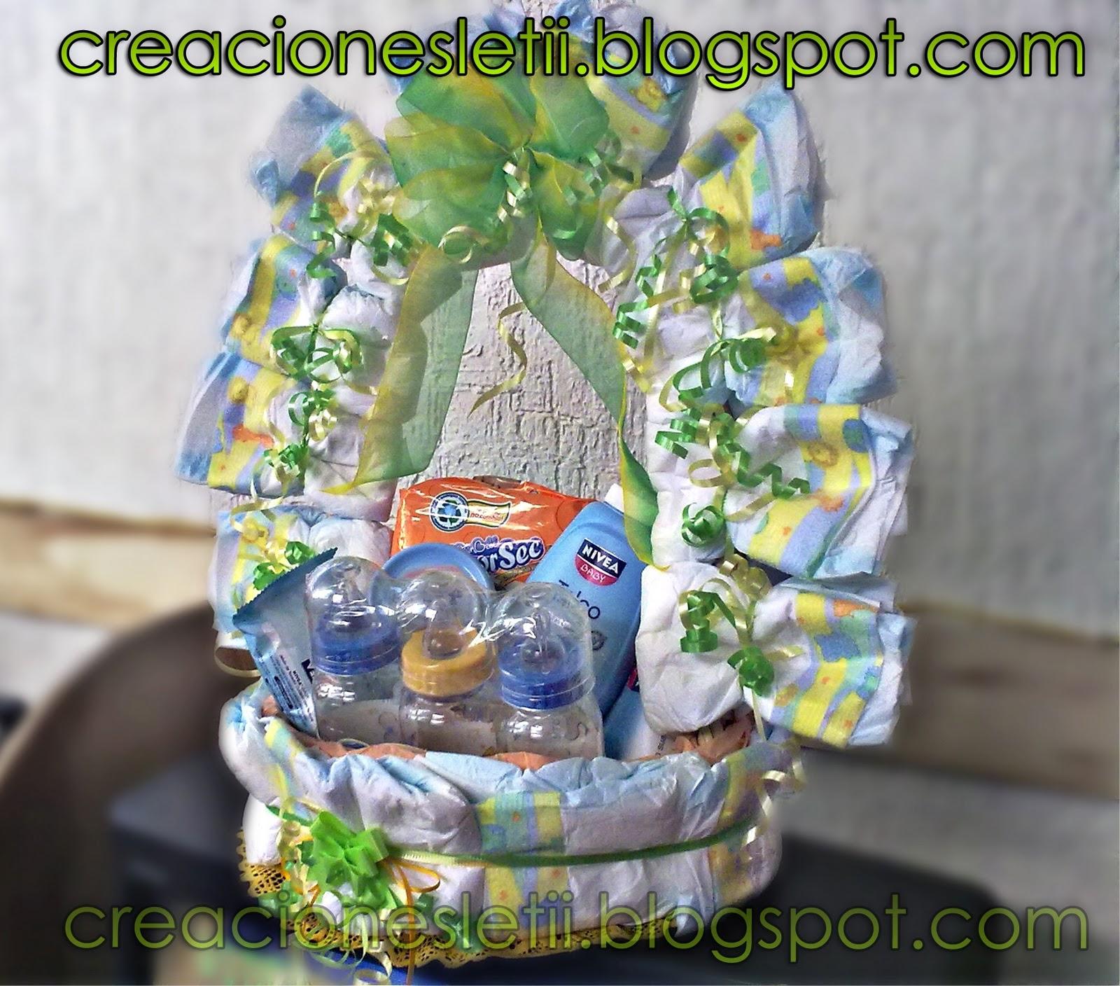 Canasta decoradas para baby shower - Imagui