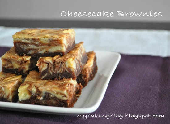 My Baking Recipes: Cheesecake-Marbled Brownie