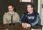 Técnico Rogério Zimmermann e Beto Vetromille