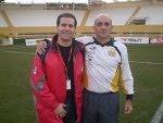 Beto e o técnico Itamar Schulle