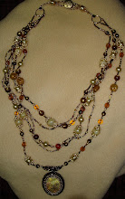 Beaded cabochon necklace