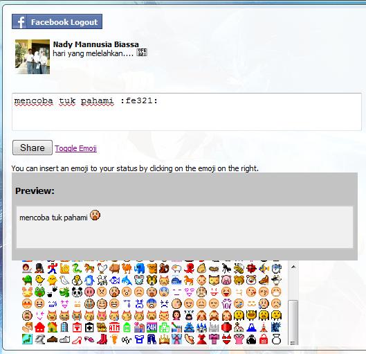 Cara Menambahkan Emotion Pada Status Facebook