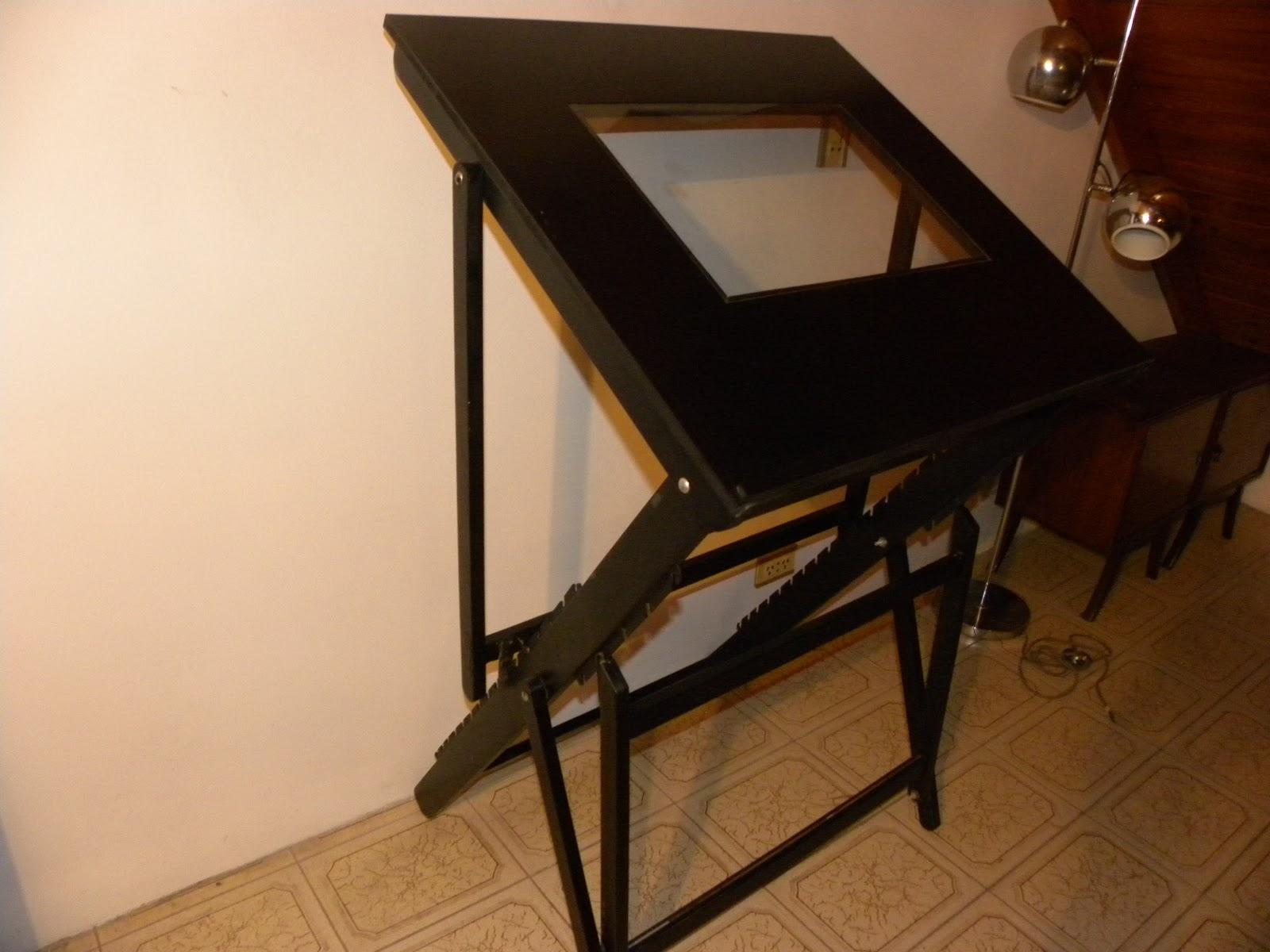 Deco retro vintage tablero de dibujo t cnico antiguo - Mesas de dibujo tecnico ...