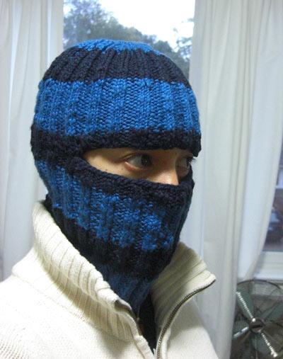 Knitting Pattern For A Balaclava : Knitted balaclava