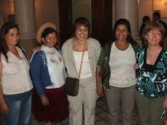 Visita de la Dip. de la Rep. de Bolivia, JULIA RAMOS, hoy Ministra de Desarrollo Rural