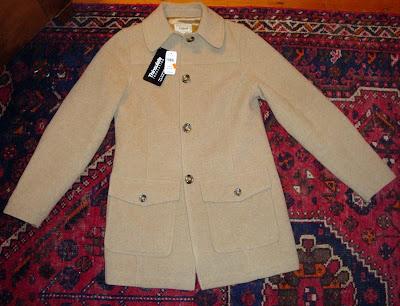 LL Bean ladies camel wool car coat