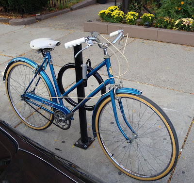 bright blue Fleet Wing bike bicycle