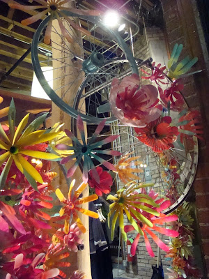 Bicycles and flowers at Anthropologie