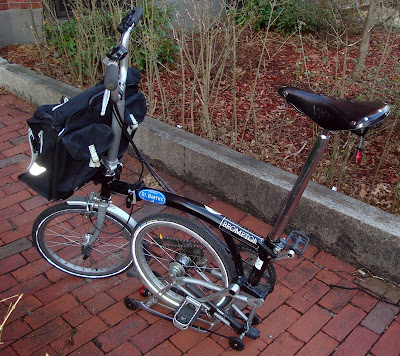 rear view of a Brompton